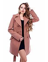 Женское демисезонное кашемировое пальто на пуговицах