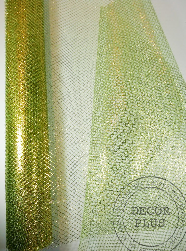 "Сетка ""кольчуга"" зелено-золотой"