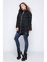 Женская зимняя куртка-парка прямого кроя на молнии