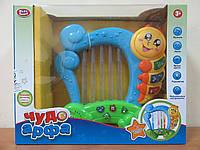 Развив. игрушка Чудо арфа 7699. Музыка, свет, муз. инструменты