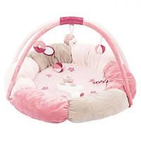 Nattou Развивающий коврик с дугами и подушками Нина, Жаде и Лили