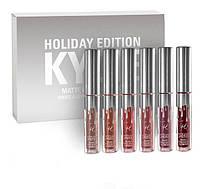 Набор матовых помад Kylie Holiday Edition  8613 silver