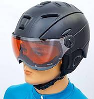 Шлем горнолыжный с визором регулируемый CS-6296-BK черный L