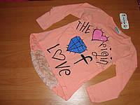 Реглан для девочек гипюр размер  7 лет