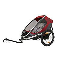 Велоприцеп Hamax Outback двухместный многофункциональный детский красный/чёрный/белый