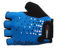 Детские велоперчатки с погашением вибрации Power Play. Синий