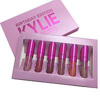 Набор жидких матовых помад 6 в 1 Kylie 8626 Birthday Edition