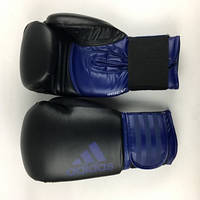 Боксерские перчатки ADIDAS Hybrid 100 (черно-синие)