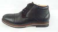 Мужские зимние кожание ботинки с мехом FALCON