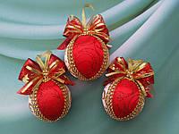 Набор красных новогодних шаров на елку Новогодний подарок