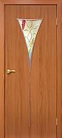 Межкомнатные Двери ПВХ Рюмка 2 СС+ФП ольха,орех Омис