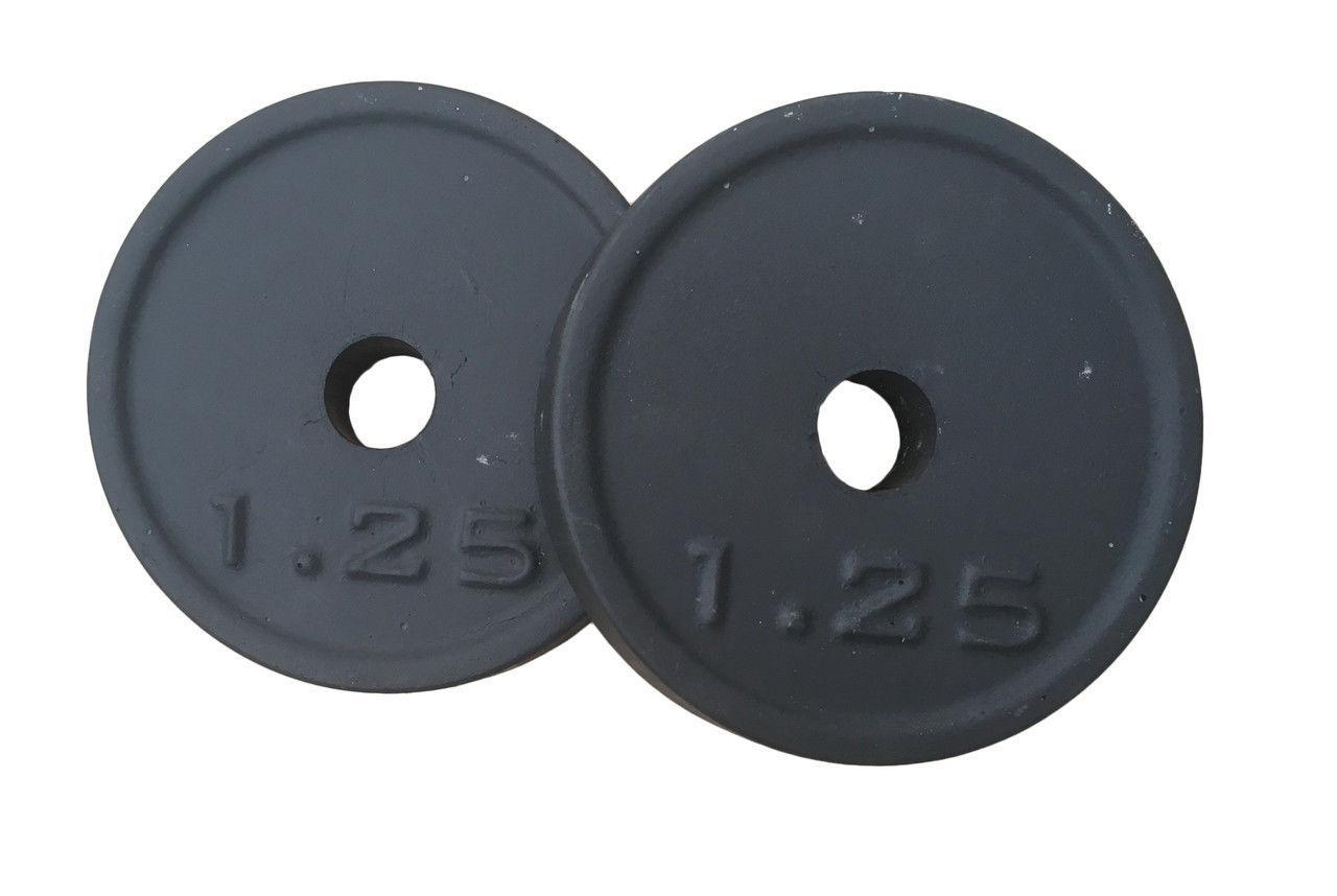 Блины для штанги и гантелей 1,25 кг диаметр любой