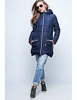 Молодежная зимняя куртка прямого силуэта с капюшоном