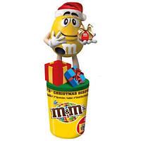 Новогодний диспенсер м&м, игрушка и сладости, 90 грамм