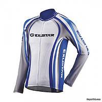 Кофта Exustar CJ57, M, бело-синяя