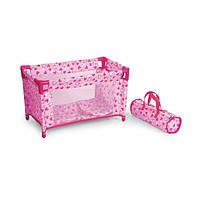 Кроватка манеж для кукол с чехлом-переноской