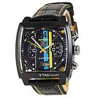 Мужские механические часы TAG Heuer - Monaco 24 цвет корпуса черный, черный ремешок