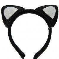 Ушки Кошки черные на ободке