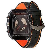 Мужские механические часы TАG - Monaco 24 цвет корпуса черный, черный ремешок, фото 1