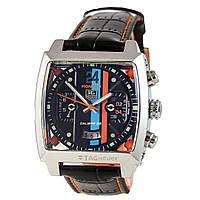 Мужские механические часы TAG Heuer - Monaco 24 цвет корпуса сталь, черный ремешок