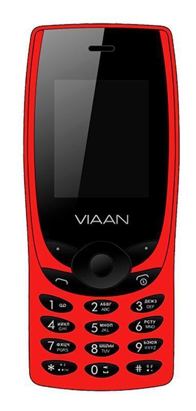 Кнопочный мобильный телефон на 2 сим карты Viaan V1820 красный