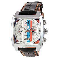 Мужские механические часы TAG Heuer - Monaco 24 цвет корпуса сталь, белый циферблат