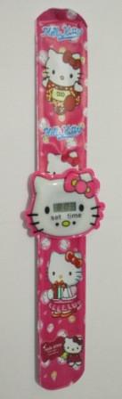 """Часы детские наручные электронные """"Китти"""" (Hello Kitty). Малиновые"""