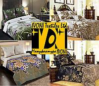 Комплекты двуспальные от IVONI постельного белья из поплина и перкаля. Хлопок 100%