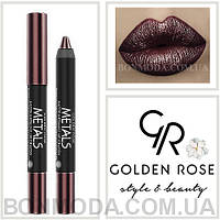 Помада-карандаш Металл Golden Rose Metals matte metallic lip Crayon № 06, фото 1