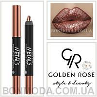 Помада-карандаш Металл Golden Rose Metals matte metallic lip Crayon № 04, фото 1