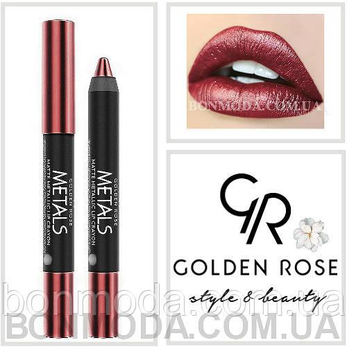 Помада-карандаш Металл Golden Rose Metals matte metallic lip Crayon № 07
