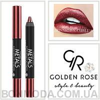 Помада-карандаш Металл Golden Rose Metals matte metallic lip Crayon № 07, фото 1