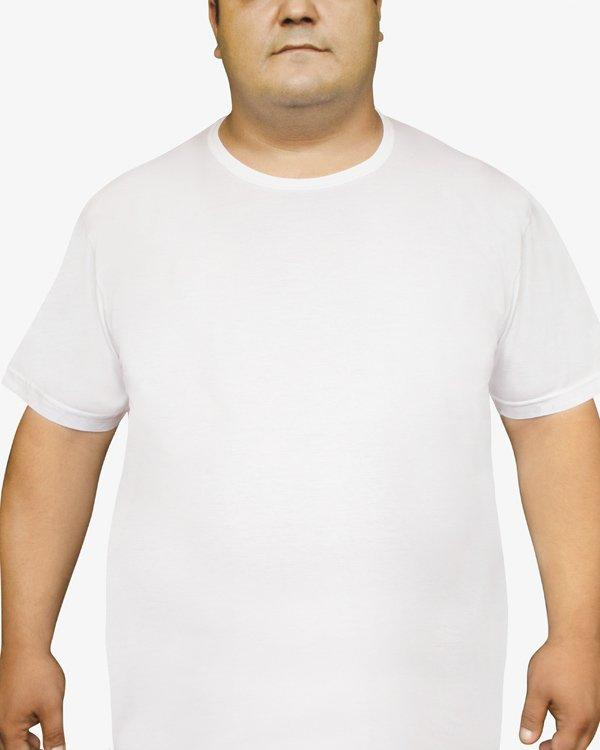 Біла Футболка чоловіча великого розміру Oztas 1037