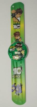 """Часы детские наручные электронные """"Бэн 10"""" (BEN 10, Ben 10, Бен 10) круглые. Зеленые"""
