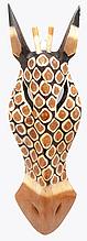 Коллекционная маска настенная Жираф из дерева