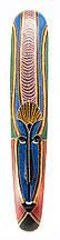 Настенная деревянная маска роспись