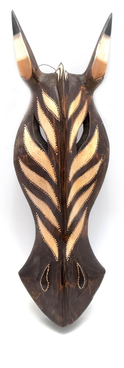 Деревянная маска на стену роспись Зебра