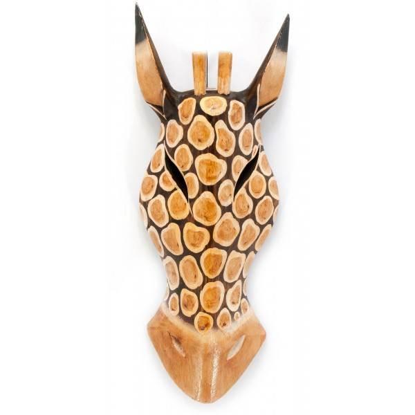 Маска Жираф коллекционная из дерева