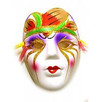 Декоративная маска из керамики на стену