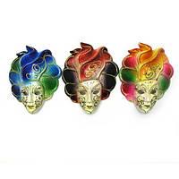 Настенная маска из керамики красивая