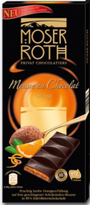 Шоколад черный Moser Roth Mousse Au Chocolat Orange , 187 гр