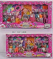 Кукла маленькая 688901/2  2 вида,   с набором одежды,   аксес.,   в  коробке  30*15*4,  5  см.