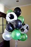 """Шары гелиевые """"Футболисту"""" с шарами-мячами."""