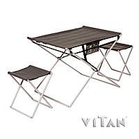 Комплект складной туристической мебели стол и два стула «Трансформер»