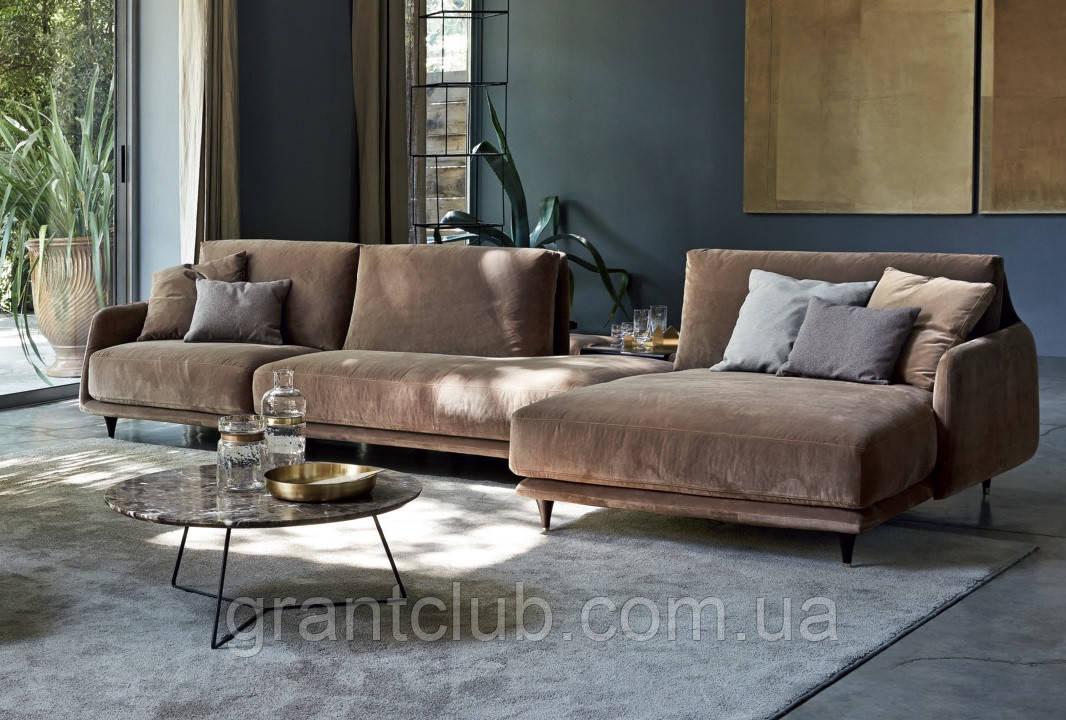 Итальянский модульный диван с тонкими подлокотниками ELLIOT фабрика Ditre Italia