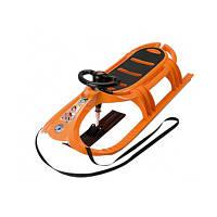 Санки с рулем и веревкой Snow Tiger de luxe KHW оранжевый