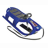 Санки с рулем и веревкой Snow Tiger de luxe KHW синий
