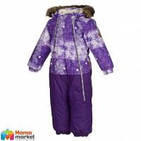 Kомбинезон зимний для девочки HUPPA DEVON 1 36160130, цвет lilac pattern/ lilac 71353