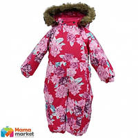 Kомбинезон зимний для девочки HUPPA KEIRA 31920030, цвет fuchsia pattern 71563