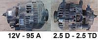 Генератор б/у на Ford Transit 2.5 D - 2.5 TD (86-00). 95 Ампер. Форд Транзит.